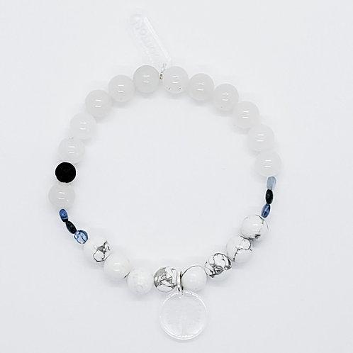 Bracelet diffuseur d'huile essentielle blanc