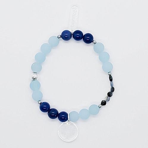 Bracelet diffuseur d'huile essentielle bleu