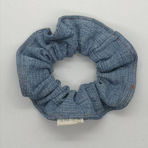 chouchou en jeans recyclé