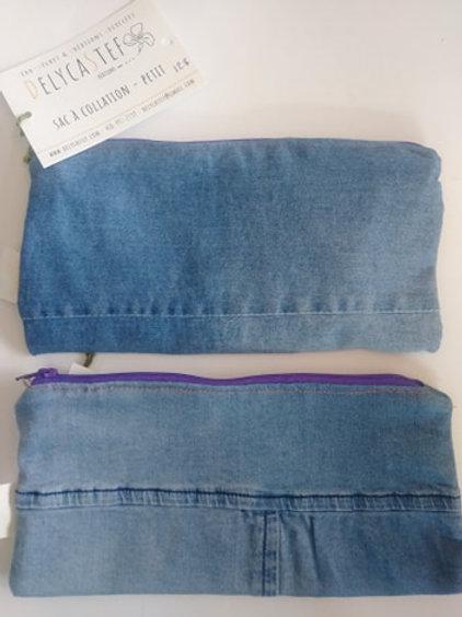 Sac à collation fait avec des jeans reclyclés