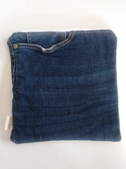 Sac à sandwich fait avec des jeans recyclés