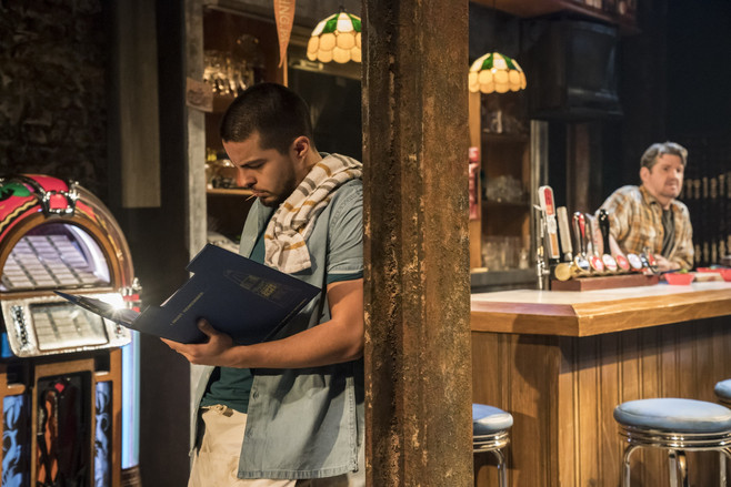 Sebastian in Sweat at the Donmar Warehou
