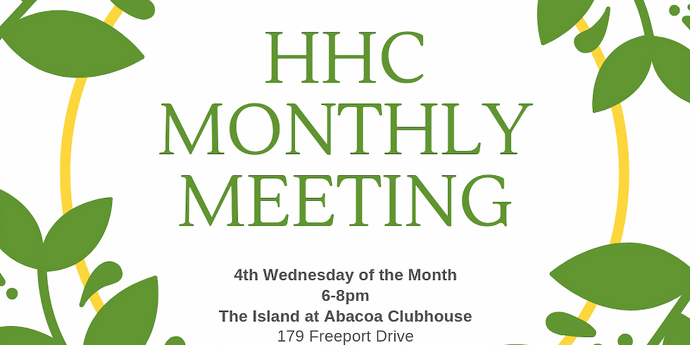 HHC Monthly Meeting