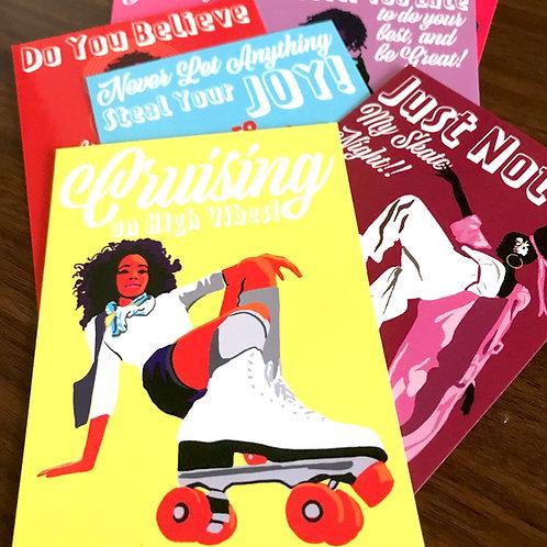 Skater Affirmation Postcards