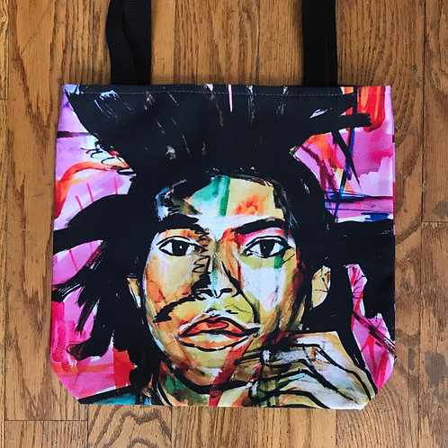 Basquiat Painted Tote