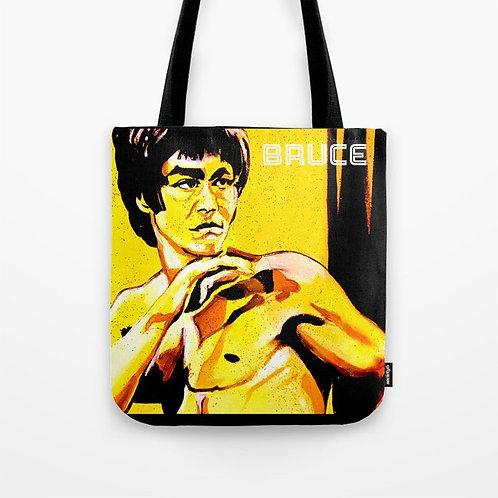 Bruce Lee Painted Tote