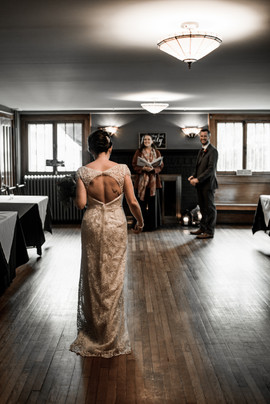 Wedding ceremony at Friends Lake Inn in Chestertown NY
