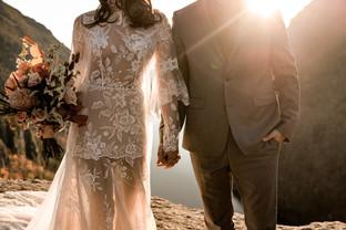 Sunset adirondack wedding photo by The Pinckards
