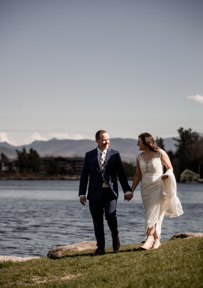 Emily and James' elopement in Lake Placid