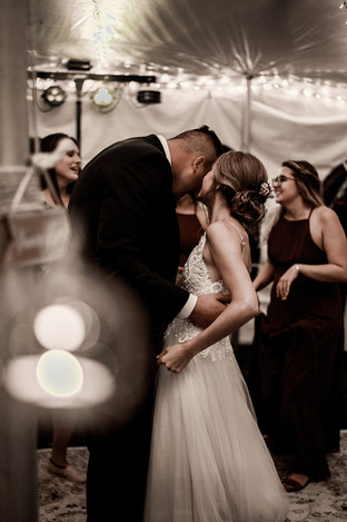 Hailey and Andrew's first dance at wedding in the Adirondack Mountains of New York