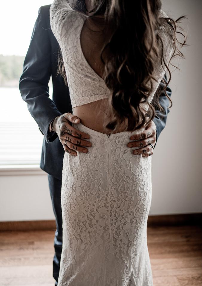 Brendan and Samantha's wedding at Smoke Signals in Lake Placid, NY