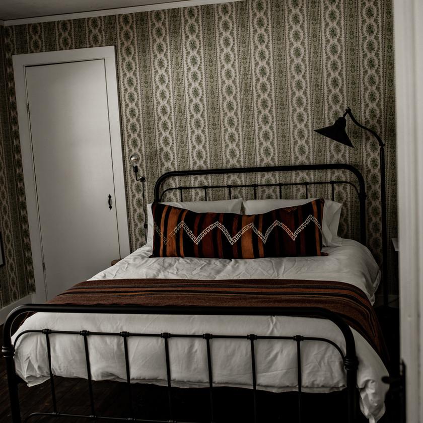 Warner's Camp in Lake Placid, rustic bedroom