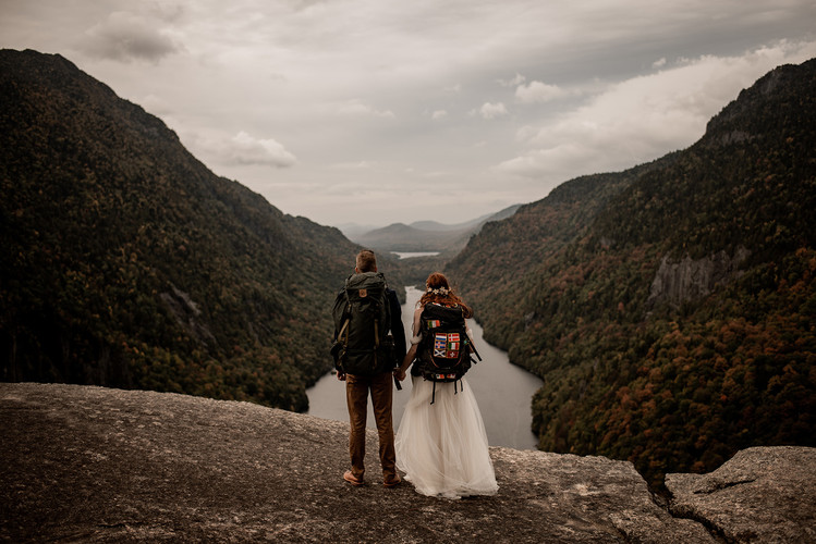 Picturesque mountaintop elopement photography