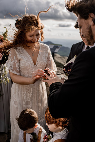 Kristin and Ryan's intimate wedding on Whiteface Mountain in the Adirondacks