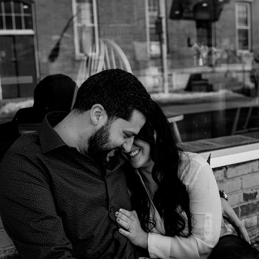 Engagement picture black and white in Glens Falls NY