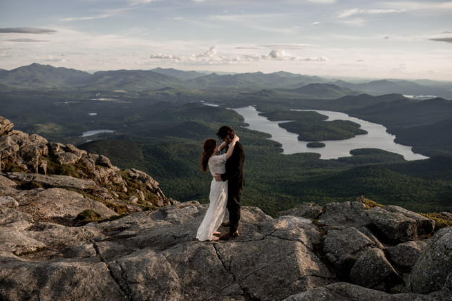 Intimate wedding on Whiteface Mountain