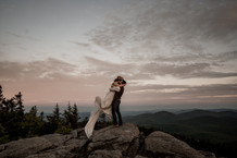 Elopement Photo on a Mountaintop in the Adirondacks of New York