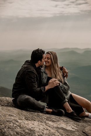 Engagement pictures on Whiteface Mt in Wilmington NY