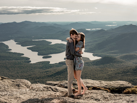Engagement Photos on Whiteface Mountain
