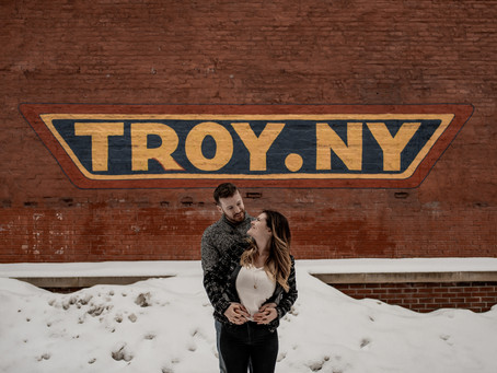 Elisa + Chris: A Winter Engagement Session in Troy, NY