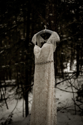 Wedding dress photo at Friends Lake Inn in Chestertown NY