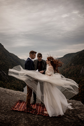 Elopement on Indian Head in Keene New York