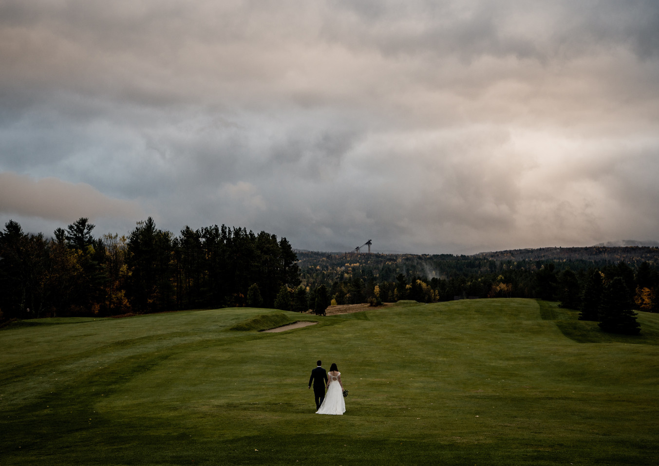 Monica and Zach's wedding at the Lake Placid Club