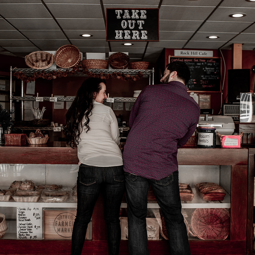 Hip bump couples photography pose in Glens Falls NY