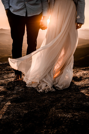 Angelica and Manny's mountaintop elopement in the Adirondacks