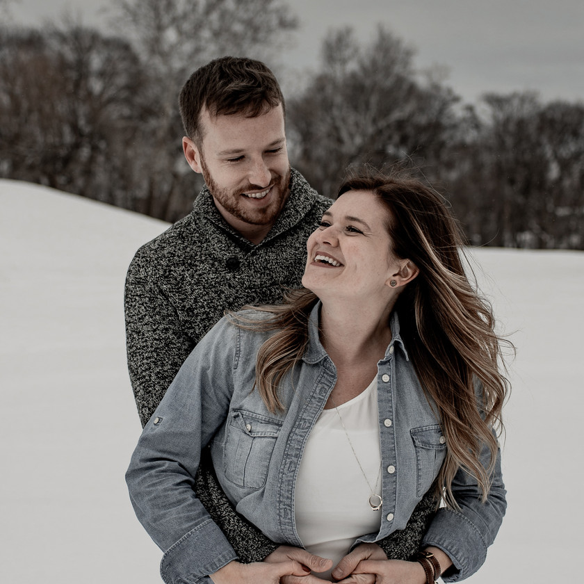 Candid engagement photos in Troy NY