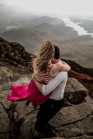 Engagement session in Adirondack high peaks