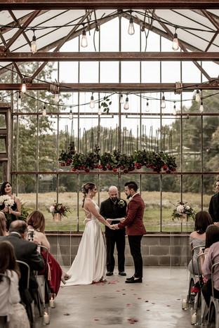Wedding ceremony photo by The Pinckards