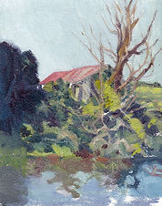 Farm Shed - Oil on Textured Paper.jpg