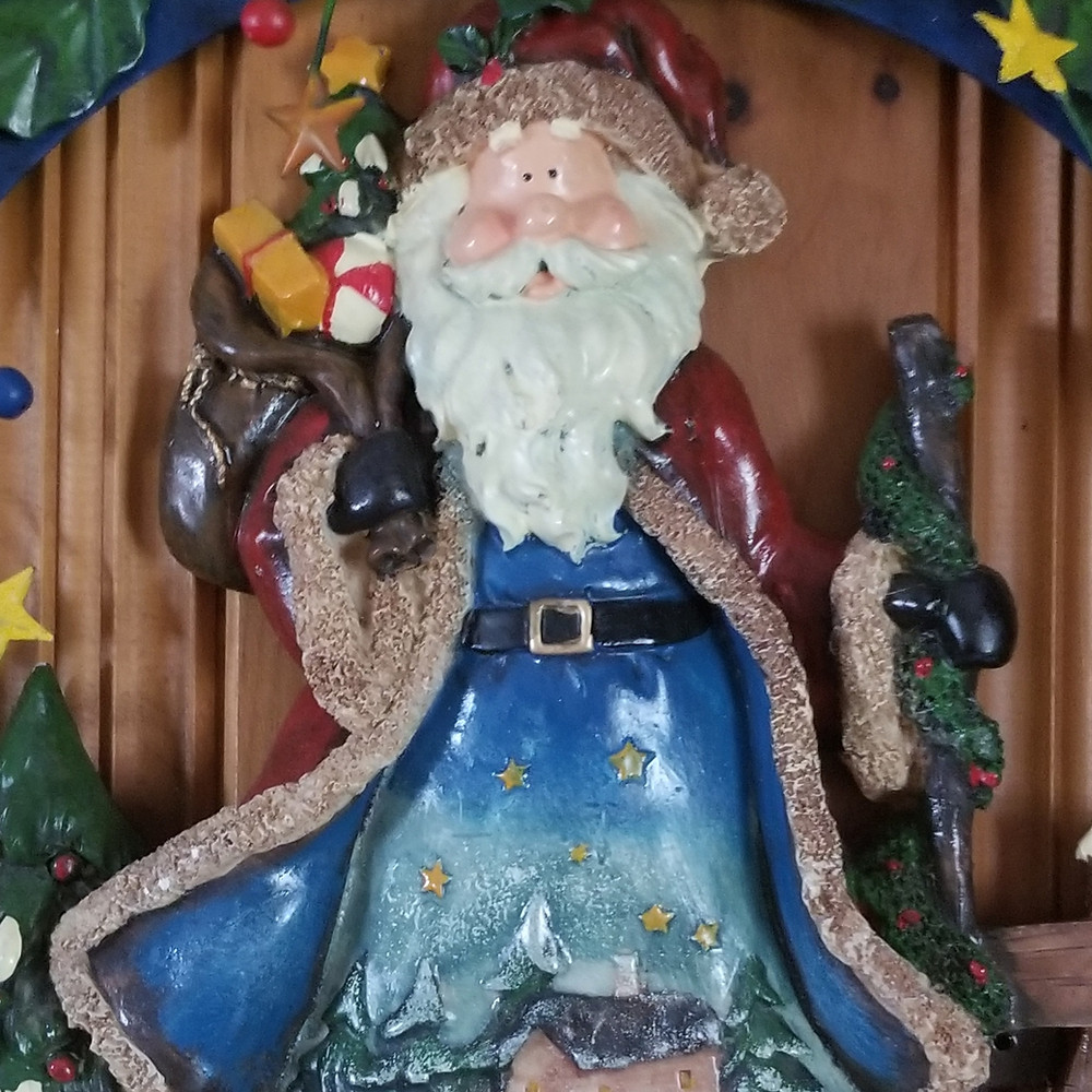 Metal Santa Wallhanging