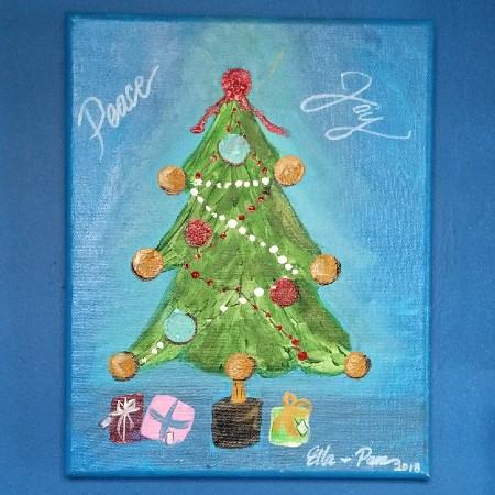 Christmas Tree on canvas by Ella Schramm