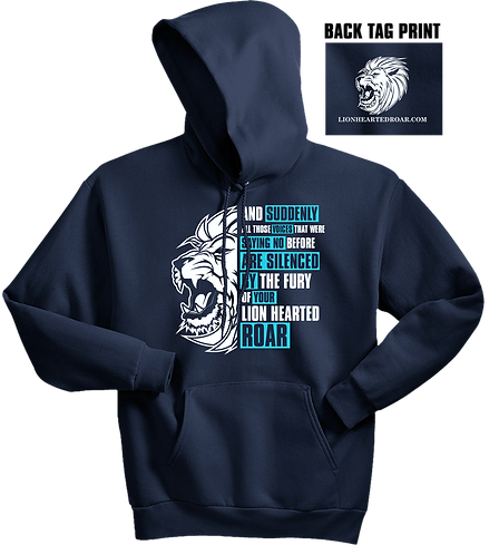 Chris Low Lion Hearted Navy Hoodie