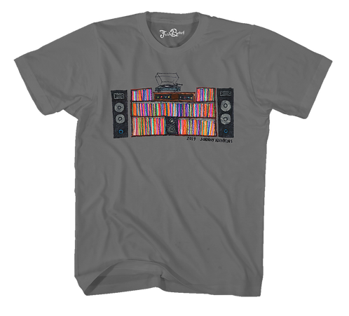 Johnny Hawkins Turntable Tee Gray