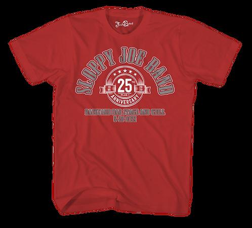 Commemorative Sloppy Joe 25th Tee Red