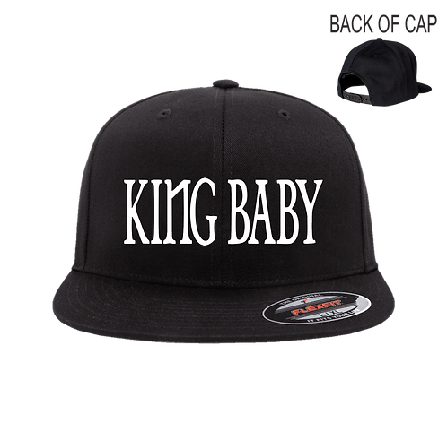King Baby Snap Back Flatbill Embroidered Cap