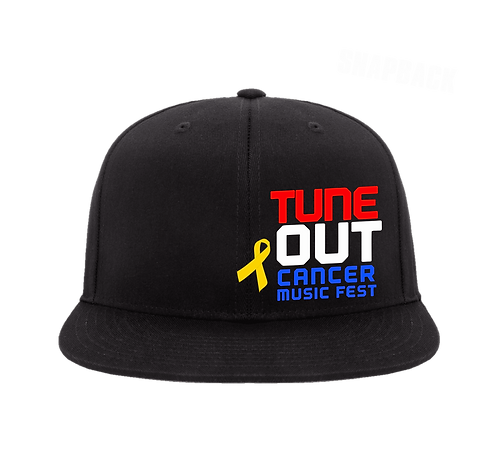Tune Out Cancer Snap Back Cap