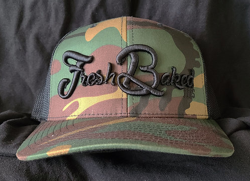 FBT Classic Camo Snapback with 3D Embroidery