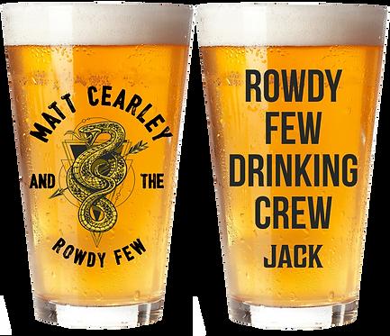 Matt Cearley Personalized Pint Glass
