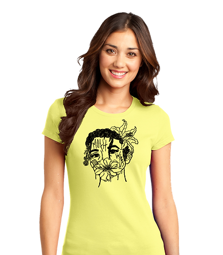 Girls Flower Face Tee
