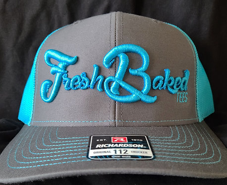 FBT Richardson Gray/Blue Snapback with 3D Embroidery
