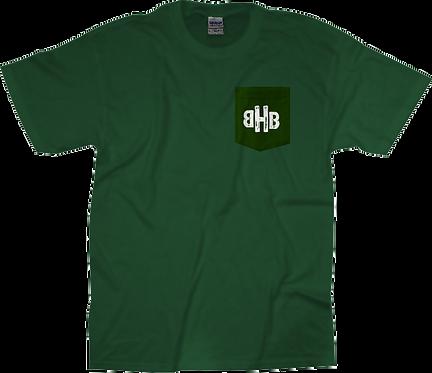 BHB Dark Green Pocket Tee