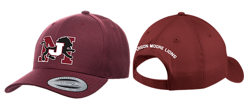 Jefferson Moore Snapback  Embroidered Cap Maroon