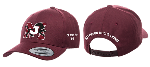 Class Of Jefferson Moore Snapback  Embroidered Cap Maroon
