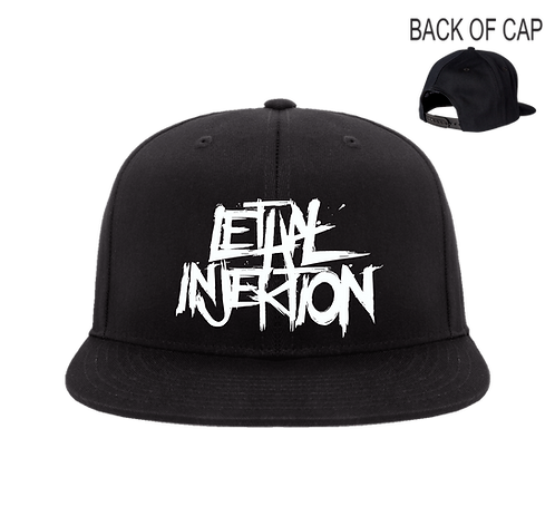 Lethal Injektion Snap Back Flatbill Embroidered Cap