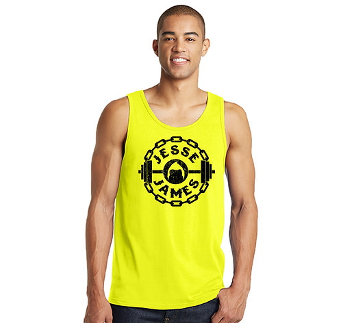 Jesse James Guys Neon Yellow Tank