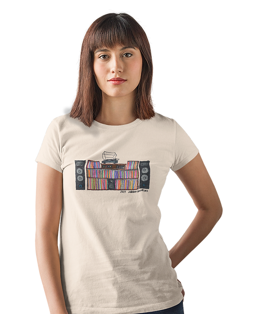Johnny Hawkins Turntable Ladies Tee